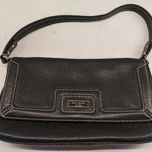 Kate Spade Black Leather Purse with Short Strap